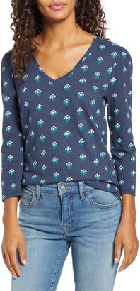 Lucky Brand Floral Puff Sleeve Tee