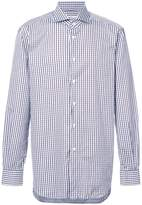 Kiton micro checked shirt