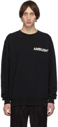 Ambush SSENSE Exclusive Black Logo Crewneck Sweatshirt