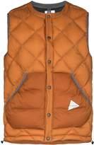 And Wander diamond padded gilet jacket