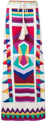 Laneus colour-block maxi skirt