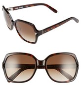 Bobbi Brown Women's 'The Harper' 55Mm Square Sunglasses - Havana