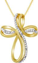 JCPenney FINE JEWELRY 1/10 CT. T.W. Diamond Cross Pendant Necklace