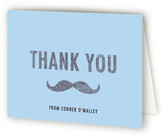 Minted I Mustache You a Question Children's Birthday Party Thank You Cards