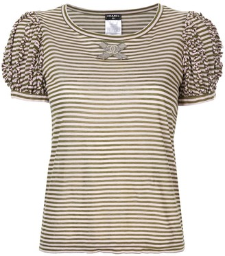Chanel Pre Owned striped T-shirt