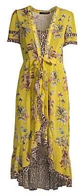 Le Superbe Women's Safari Chiffon Wrap Dress