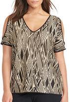Lauren Ralph Lauren Plus Cutout-Shoulder Sweater