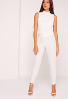 Missguided Crepe Pants White