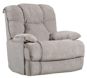 Bruno Recliner Lane Furniture Upholstery Color: Pebble, Reclining Type: Power, Motion Type: Rocker with Heat & Massage