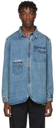 Han Kjobenhavn Blue Denim Heavy Army Shirt