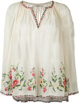 Mes Demoiselles embroidered smock blouse