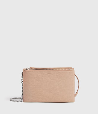 AllSaints Fetch Chain Leather Crossbody Bag