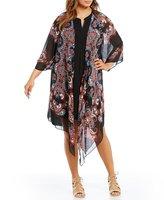 Gibson & Latimer Plus Paisley Kimono