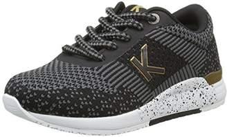 Kickers Knitwear, Girls' Low-Top Sneakers, Black (Noir/Or), (33 EU)