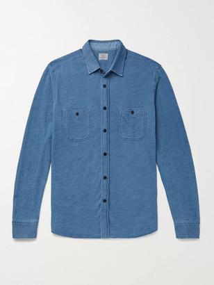 Faherty Knit Seasons Slim-Fit Indigo-Dyed Cotton Shirt