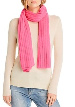 Aqua Cashmere Rib-Knit Cashmere Scarf - 100% Exclusive