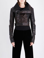Rick Owens Bar-detail leather jacket
