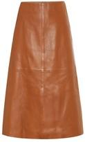 Joseph Idena leather midi skirt