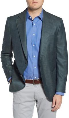 Peter Millar Classic Fit Solid Wool Blend Sport Coat