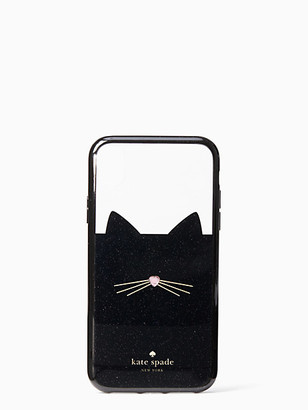 Kate Spade Jeweled Glitter Cat Iphone Xr Case