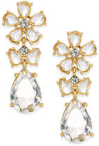 Kate Spade 14k Gold-Plated Flower Drop Earrings