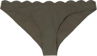 Marysia Swim Santa Barbara Scalloped Textured Low-rise Bikini Briefs
