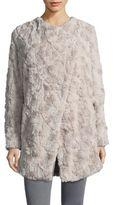 BB Dakota Asymmetrical Faux Fur Jacket