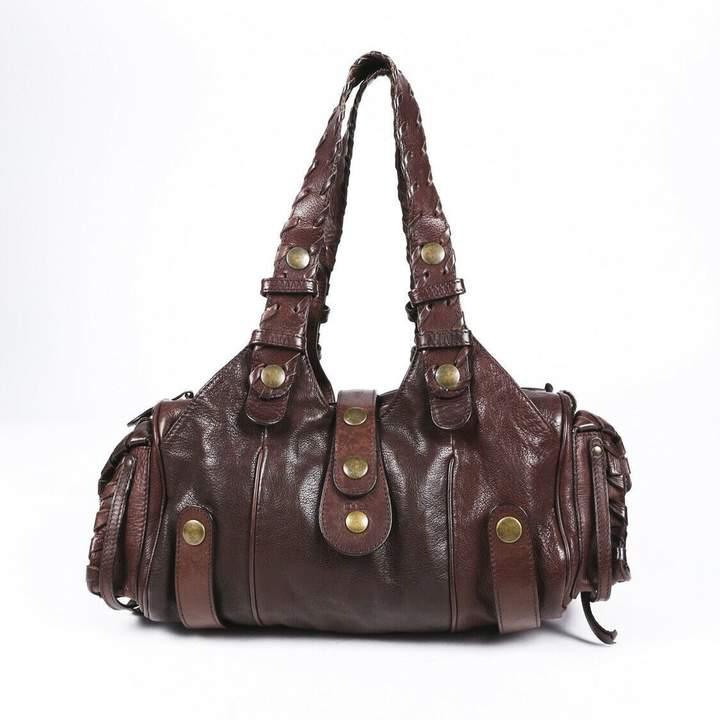 Celine NWT Green Shearling & Leather Flap Shoulder Bag