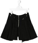 Diesel TEEN Peden skirt-effect pleated shorts