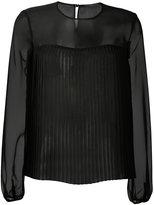 Max Mara Ferro sheer blouse - women - Silk/Polyamide/Polyester - 42