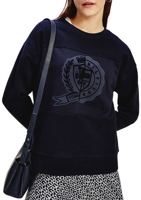Tommy Hilfiger Icon Regular Crew Neck Graphic Sweatshirt Sky