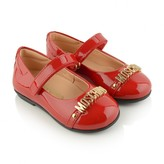 Girls Red Patent Leather Ballerinas