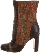 Etro Embroidered Ankle Boots