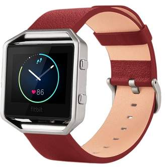 Fitbit POSH TECH Large Leather Band for Blaze with Frame - Red