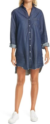 Frank And Eileen Mary Long Sleeve Famous Denim Shirtdress