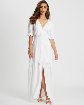 Savel - Women's White Maxi dresses - Soraya Maxi Dress - Size 6 at The Iconic
