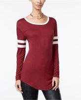 Ultra Flirt Juniors' Long-Sleeve Football T-Shirt