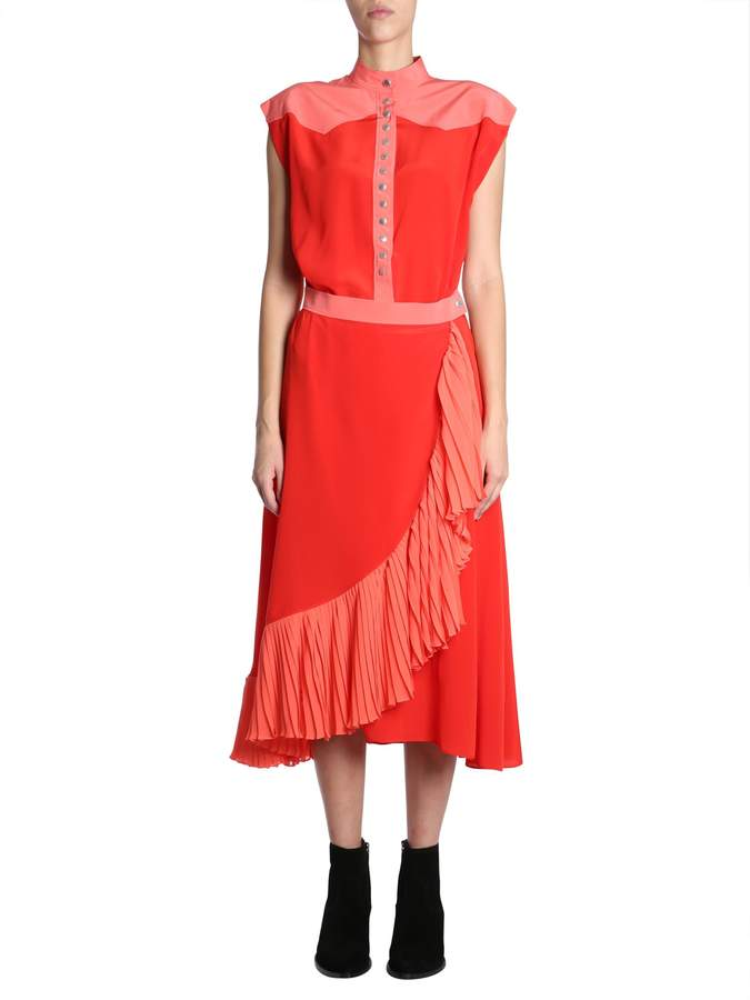 Givenchy Wrap Dress With Ruffles