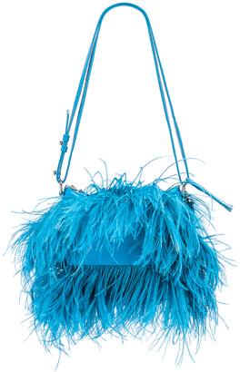 Marques Almeida Marques ' Almeida Feather Bag in Turquoise | FWRD