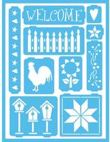 Americana Country Self-Adhesive Stencil
