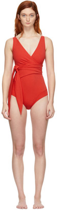 Lisa Marie Fernandez Red Dree Louise One-Piece Swimsuit