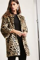 Forever 21 Shaci Faux Fur Leopard Jacket