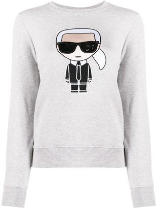 Karl Lagerfeld Paris Graphic Print Sweatshirt