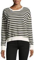 Splendid West Village Striped Cropped Sweatshirt