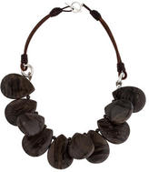 Brunello Cucinelli Chocolate Agate Bead Necklace