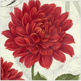 Dahlia Etude en Rouge Canvas Wall Art