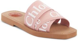 Chloé Logo Slide Sandal