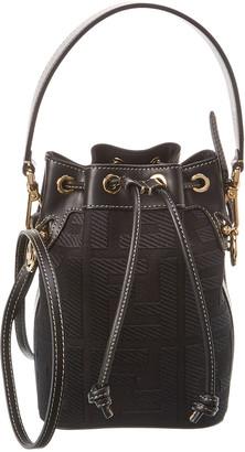 Fendi Mon Tresor Mini Canvas & Leather Bucket Bag