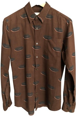 Dries Van Noten Brown Cotton Shirts