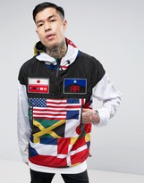 Reason Overhead Windbreaker With Flag Print